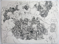 "ink on paper, 2009, 22"" X 30"""