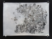 "ink on velum, 2008, 22"" X 30"""