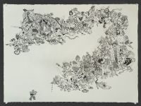 "ink on paper, 2008, 22"" X 30"""